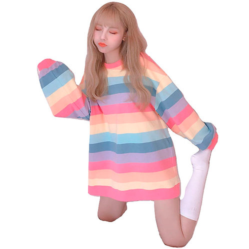 Camiseta Arcoiris / Rainbow Long Sleeved T-Shirt WH101