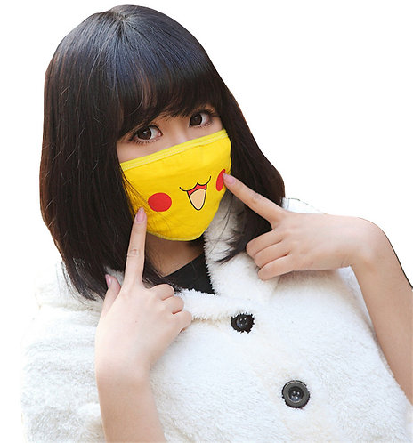 Mascarilla Japonesa Pikachu / Pokemon Anti Dust Face Mask WH507