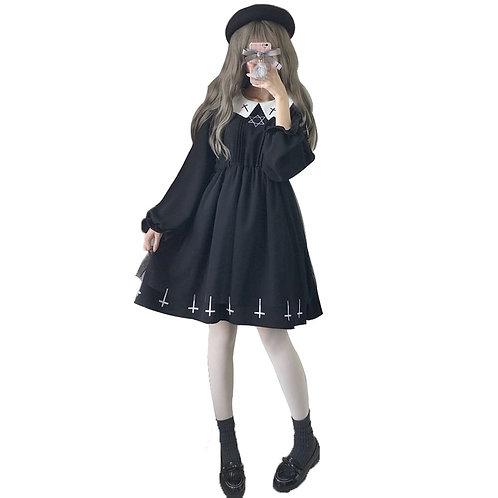Vestido Cruces Gothic Lolita Crosses Dress WH399