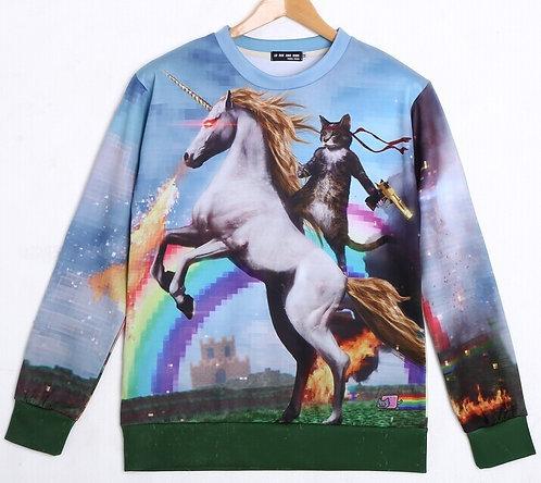 Sudadera Unicornio Gato / Cat Unicorn Sweatshirt Wh123