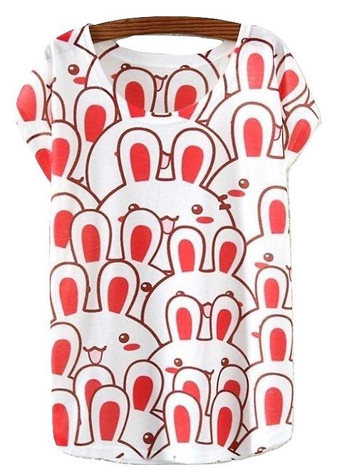 Rabbits T Shirt / Camiseta Conejos Wh315