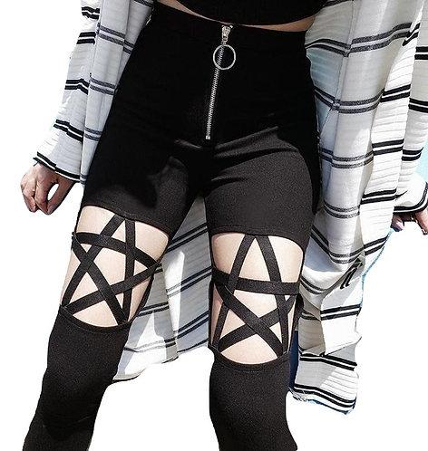 Pantalones Estrella Negra / Black Star Pants WH115