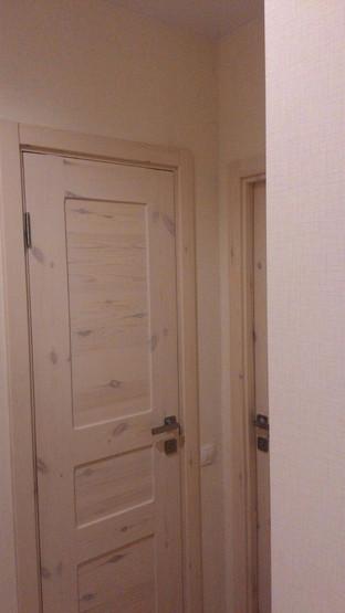 Полностью деревянный дверной блок