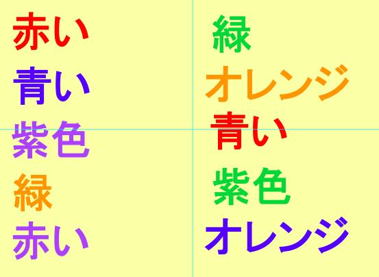 Stroop japanese