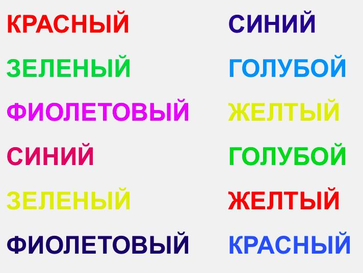Stroop russian