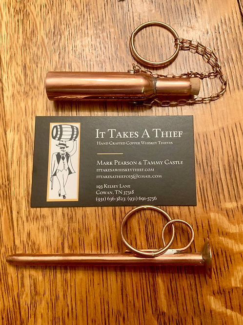 It Takes A Thief Solid Copper Whiskey Thief Keychain