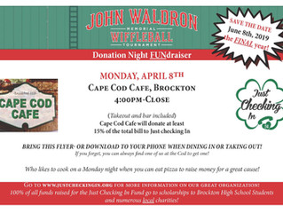Cape Cod Cafe Fundraiser Night! Monday, April 8th