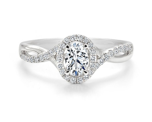 Canadian Rocks | 14K Gold and 0.47 CTW Diamond Halo Setting Ring
