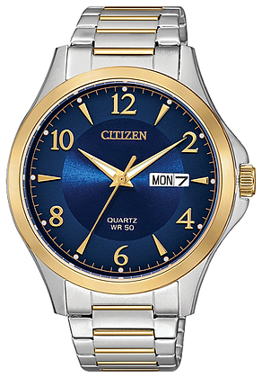 Citizen Men's Quartz Two Tone Blue Dial Watch | BF2005-54L