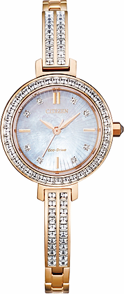 Citizen Women's Silhouette Crystal Watch with Mother of Pearl Dial | EM0863-53D
