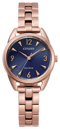 Citizen Women's Eco-Drive Rose-Tone Watch with Dark Blue Dial | EM0688-78L