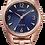 Thumbnail: Citizen Women's Eco-Drive Rose-Tone Watch with Dark Blue Dial | EM0688-78L