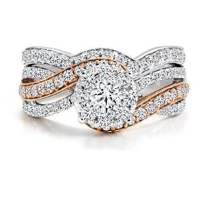 Canadian Rocks | 14K Gold and 1.27 CTW Diamond Ring Set