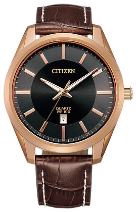Citizen Men's Quartz Leather Watch | BI1033-04E