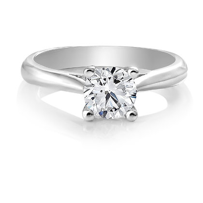 Canadian Rocks | 14K Gold Solitaire Diamond Ring