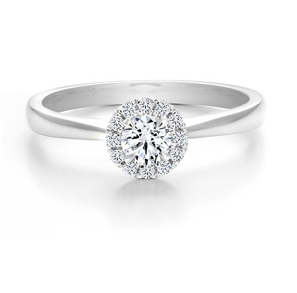 Canadian Rocks | 10K Gold and 0.33 CTW Halo Diamong Ring