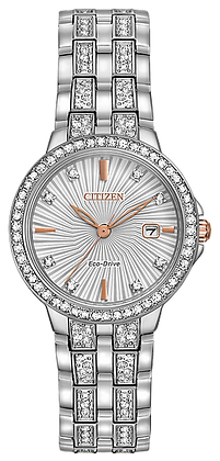 Citizen Woman's Eco-Drive Silhouette Crystal Watch | EW2340-58A