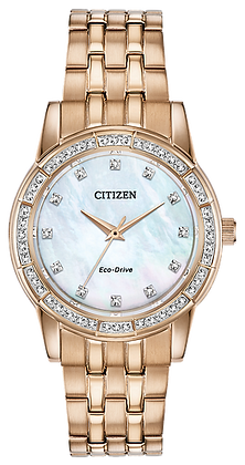 Citizen Women's Silhouette Crystal Watch with Mother of Pearl Dial | EM0773-54D