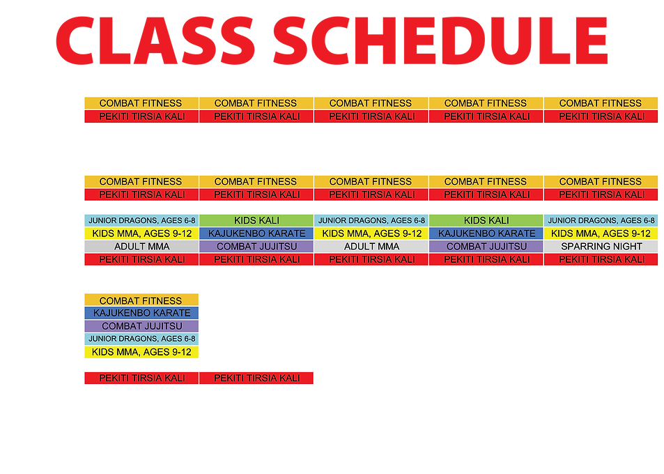 Class Schedule For Internet-Revised-01-0