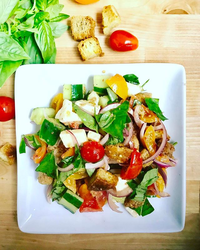 Summer is ripe. Come pick a Panzanella salad at Bloom today
