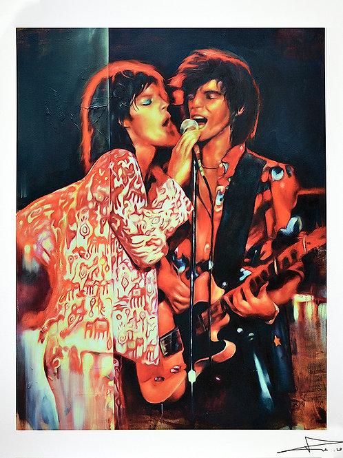 Mick Jagger & Keith Richards Print