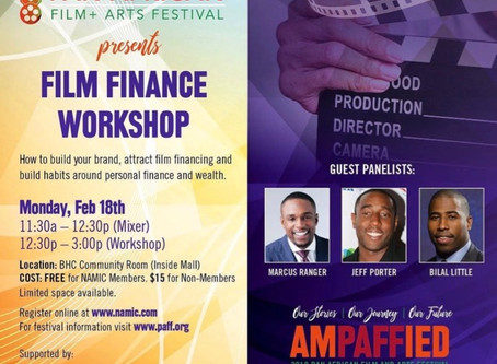 Jeff Porter of Porter Pictures speaks on Film Finance Workshop panel at Pan African Film Festival.