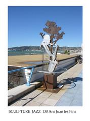 Sculpture Jazz Juan Les Pins.