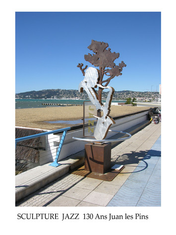 Sculpture Jazz Juan Les Pins.