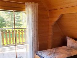 Balkonzugang im Schlafzimmer