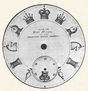 Original dial of Paul Morphy's pocket watch