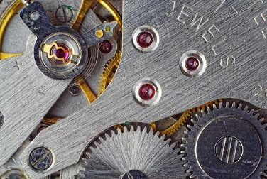 A sample watch movement