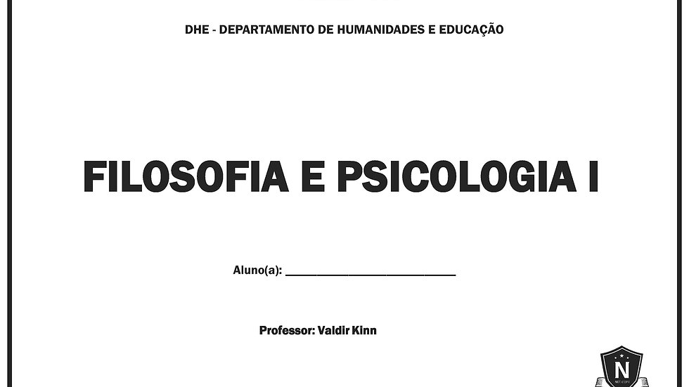 Filosofia e Psicologia I - Valdir Kinn