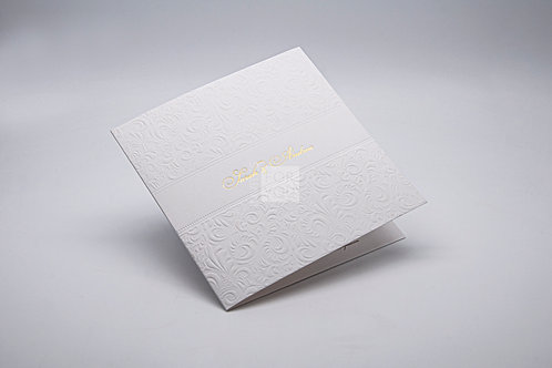 Invitation with Debossing, Foiling & Embossing