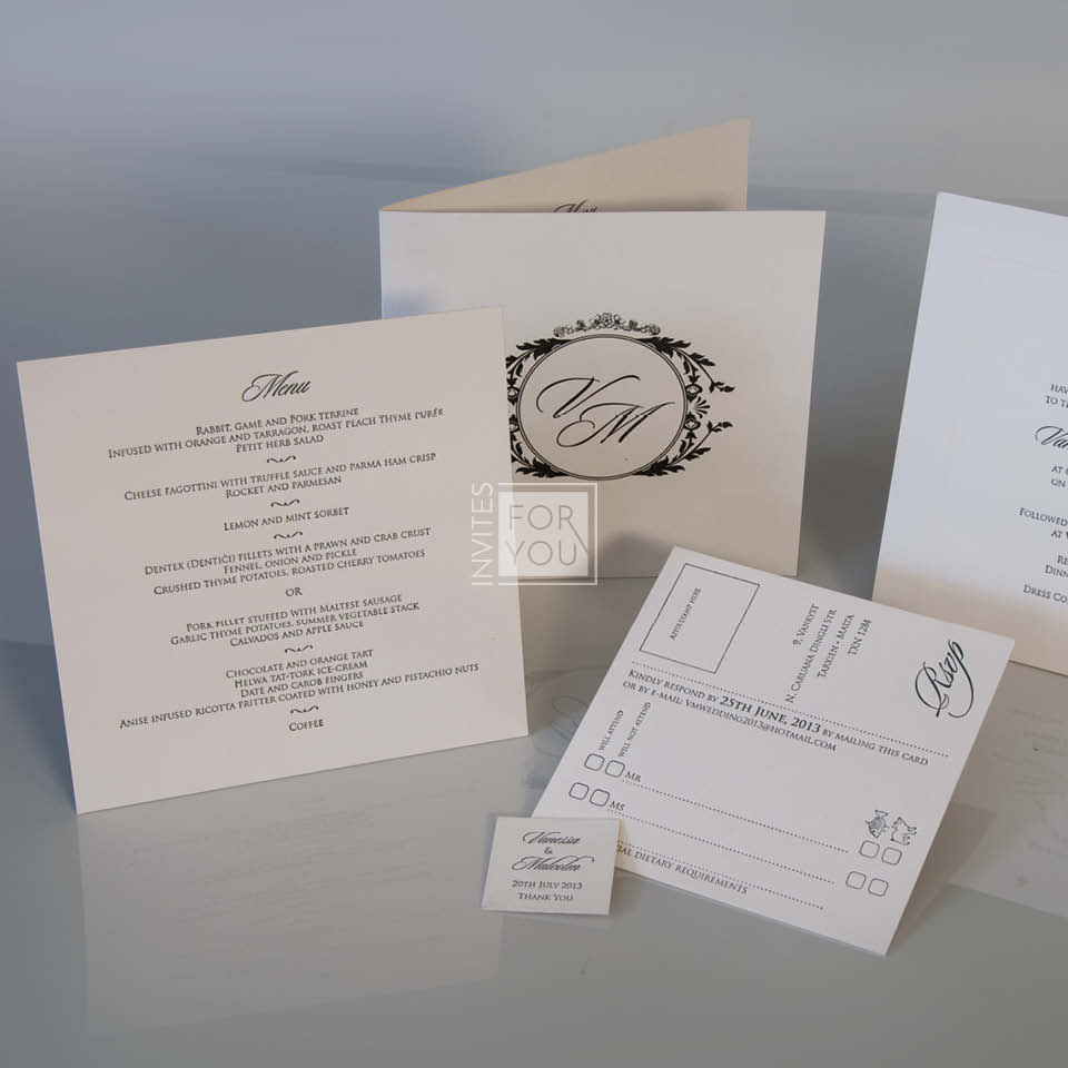 Wedding Menu and RSVP