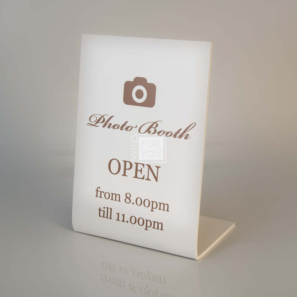 Photo Booth Sign - rounded PVC stand