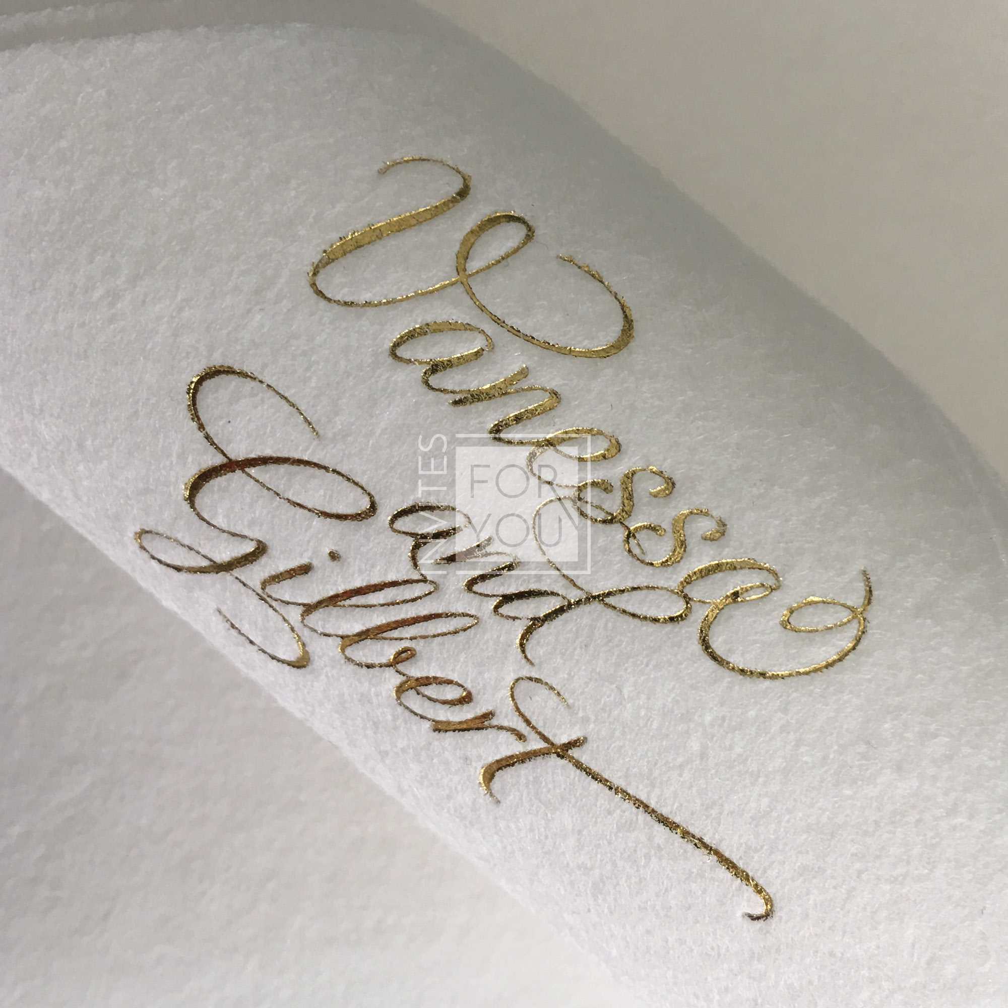 High end personalised napkins