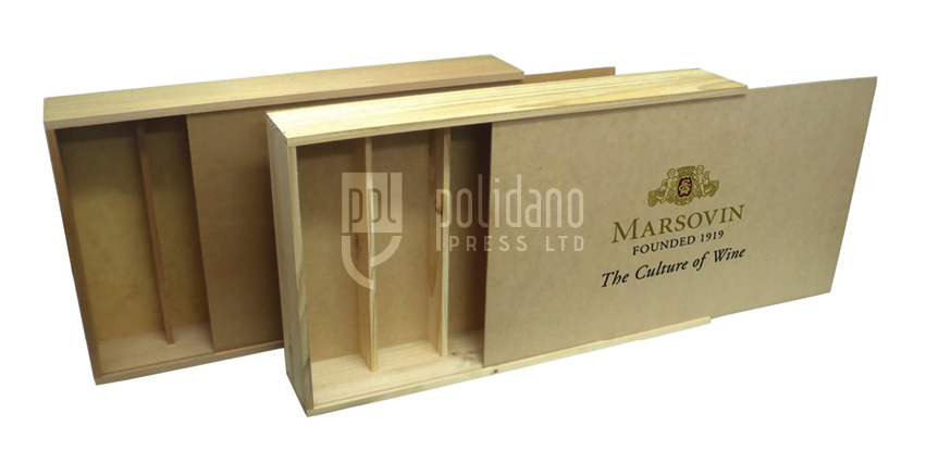 Wooden boxes print