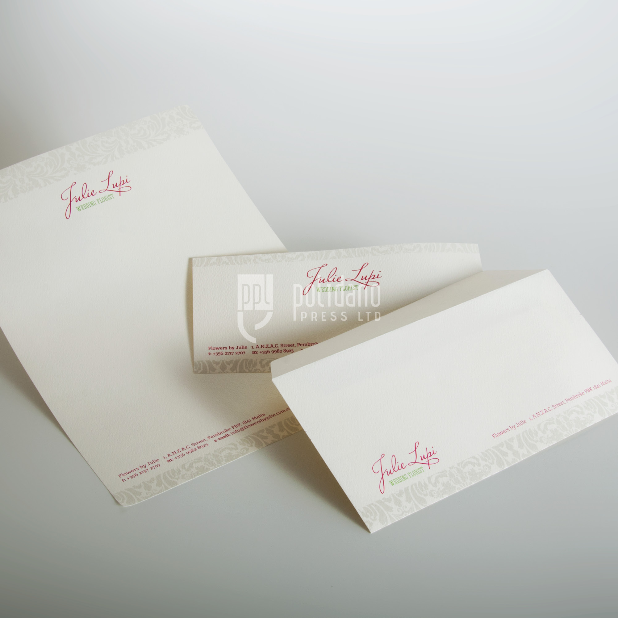 Julie Lupi stationery