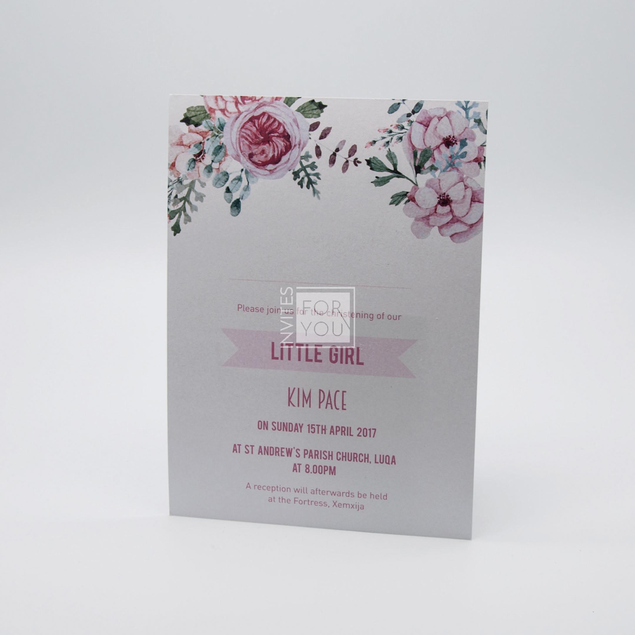 Baby Girl floral invite