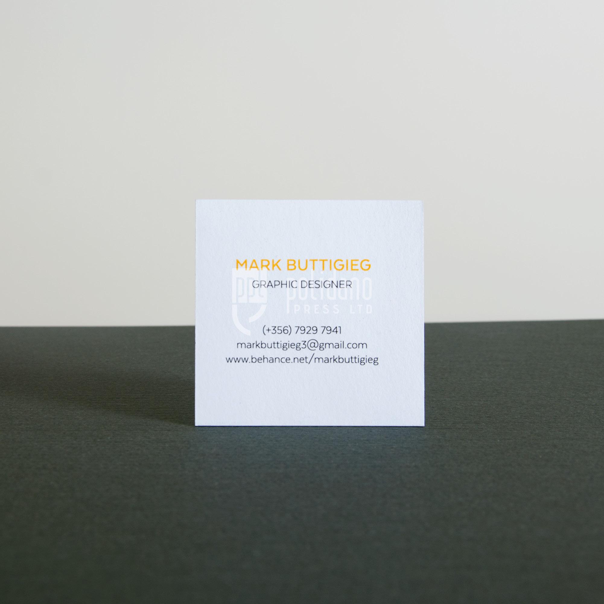 Mark Buttigieg business cards