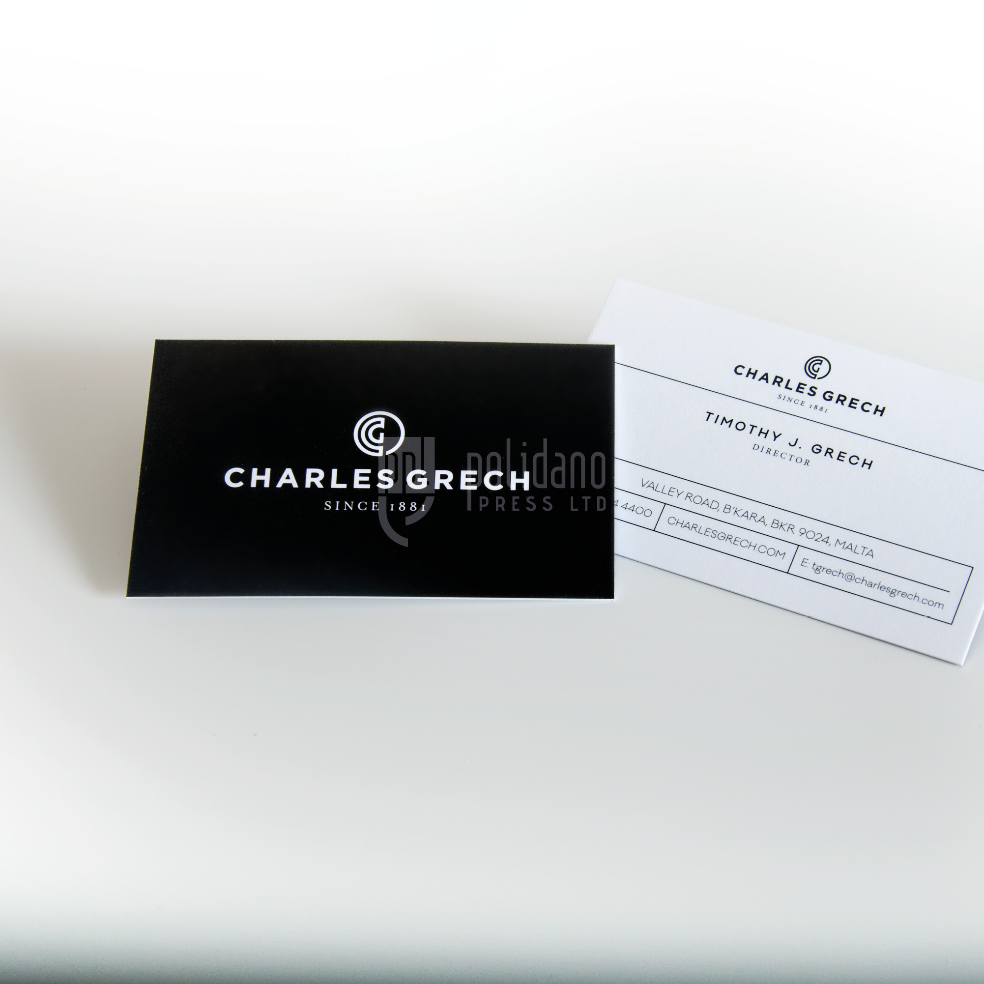 Charles Grech business cards