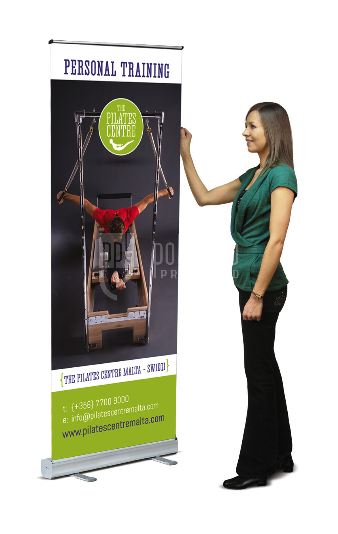 Pilates Centre Roll Up Banner