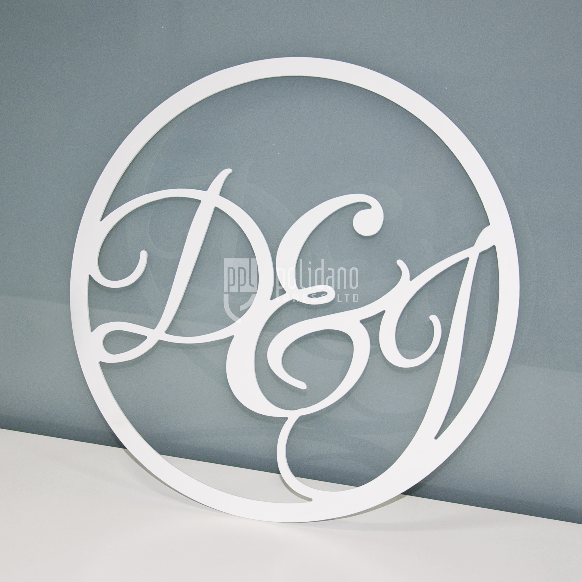 Custom Cut Wedding Signage