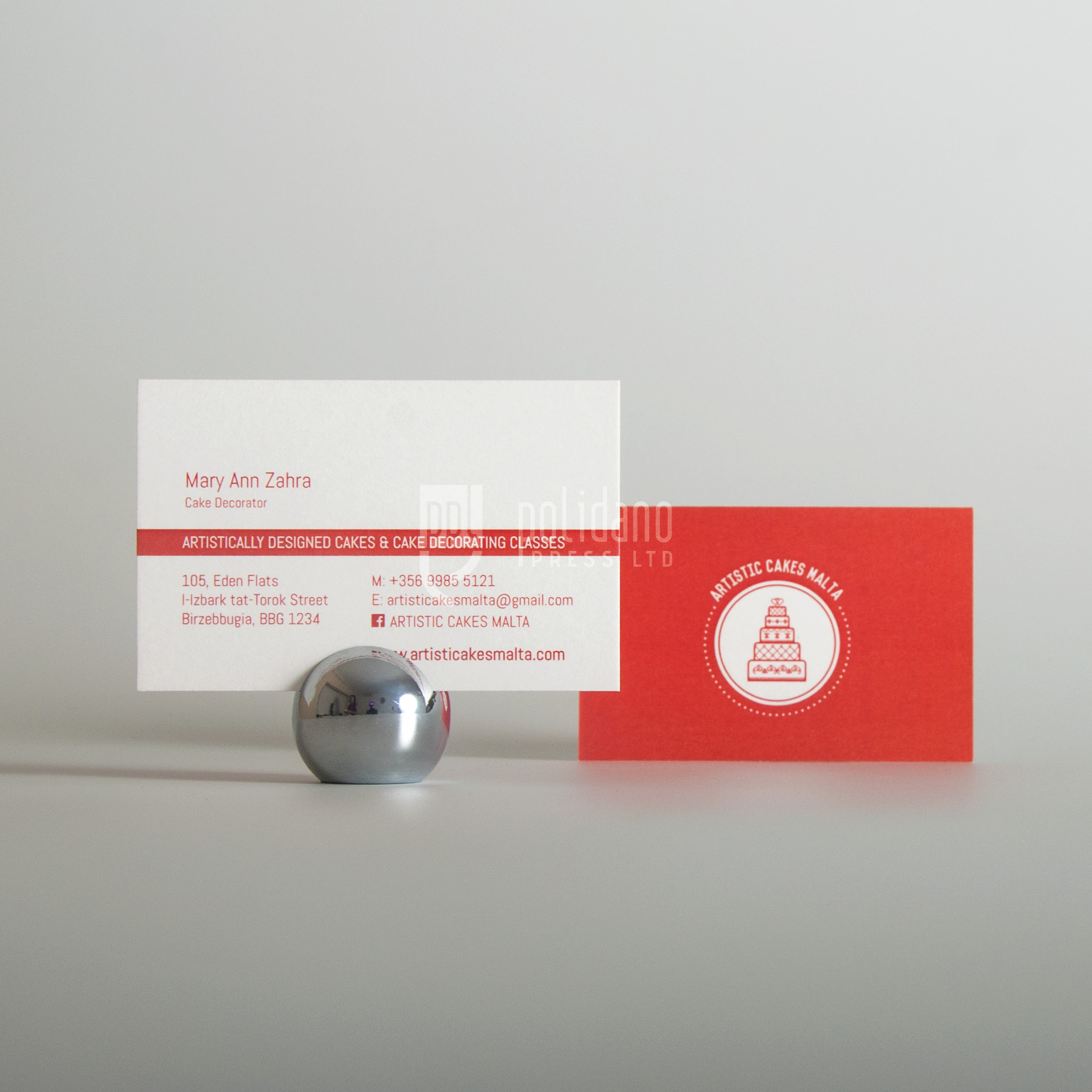 Artistic Cakes business cards