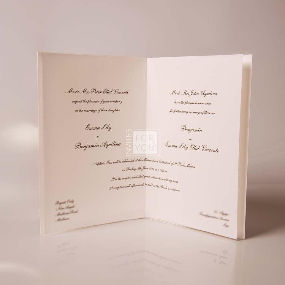 Traditional Invite Wording