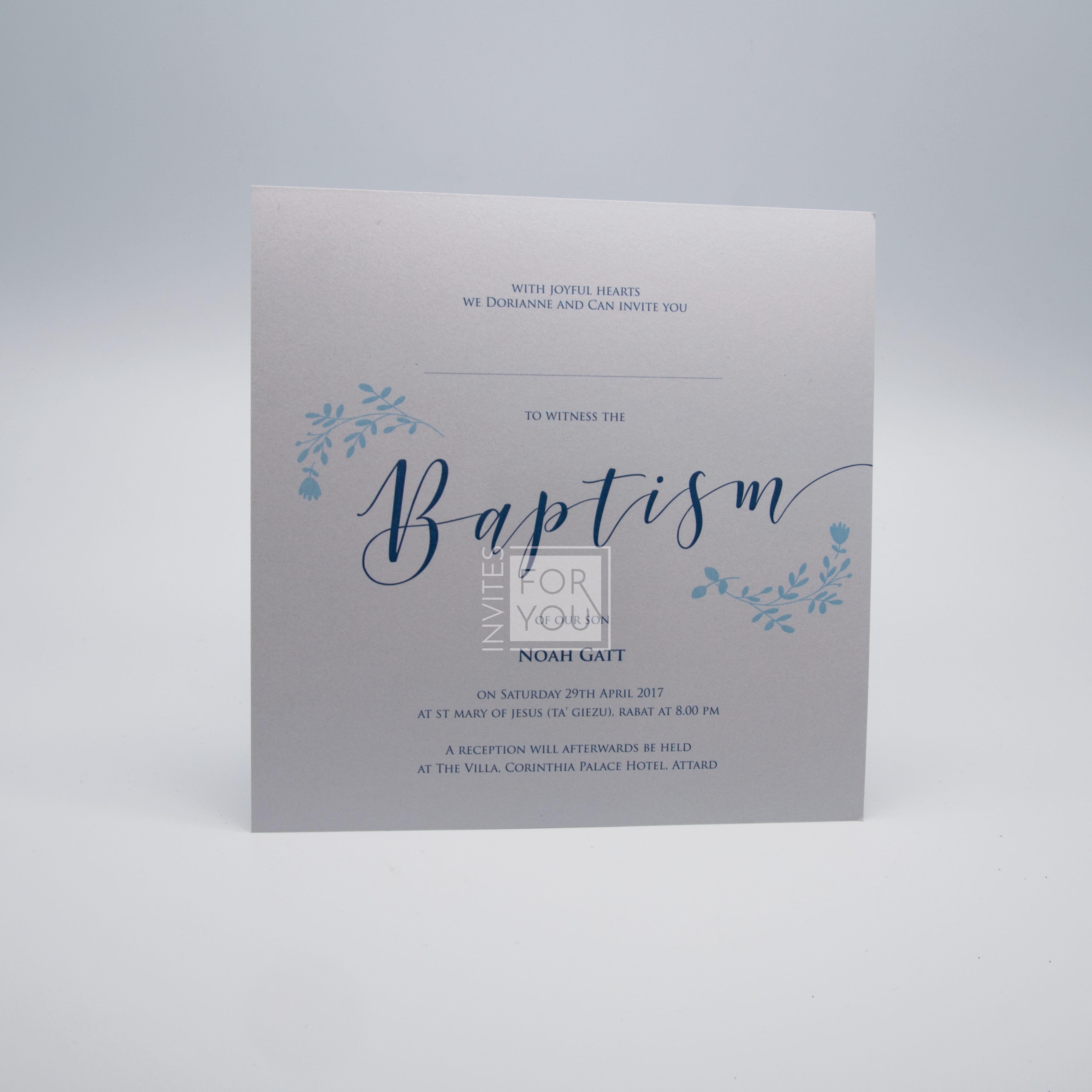 Baptism Invite - Baby Boy