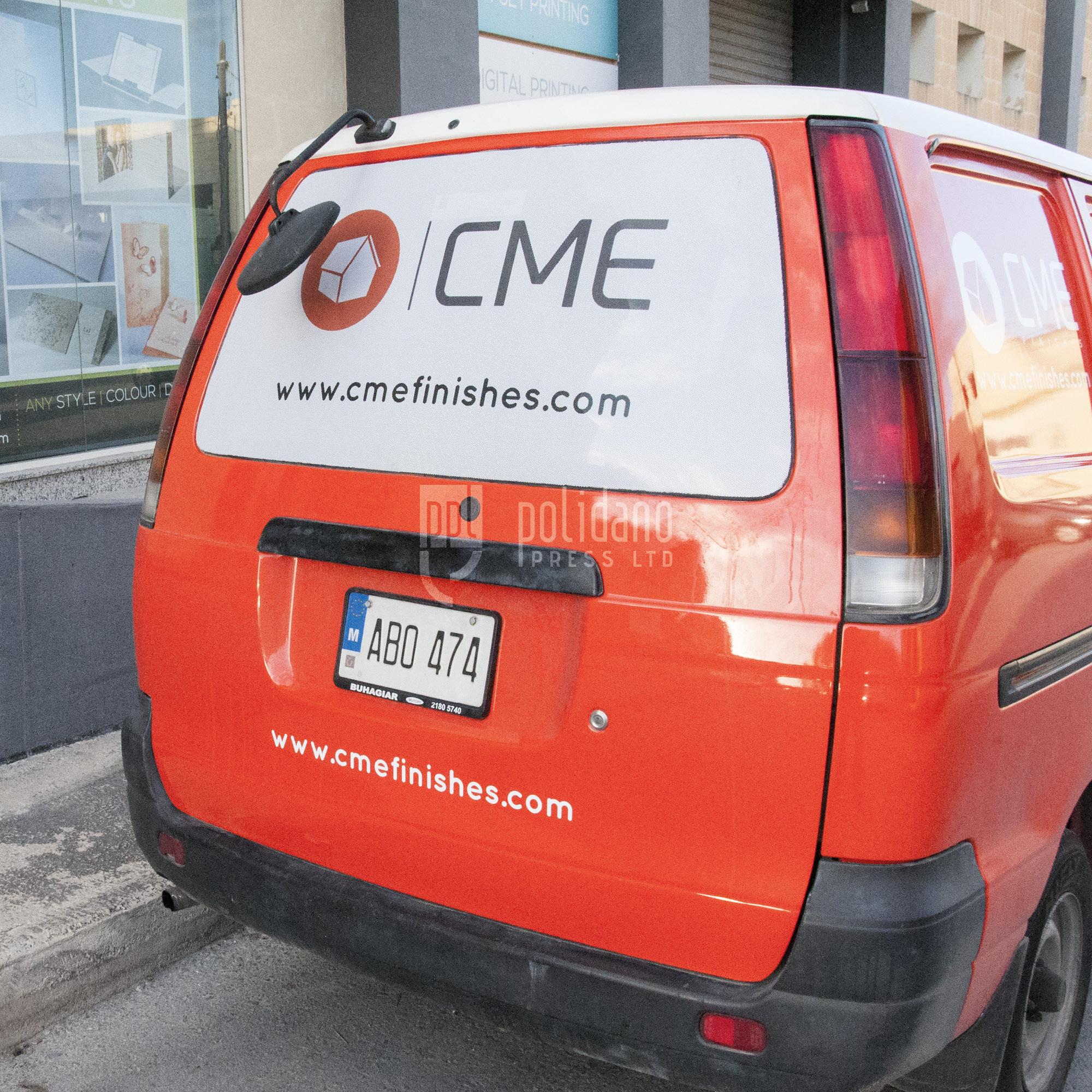 Computer Cut Vehicle Signage
