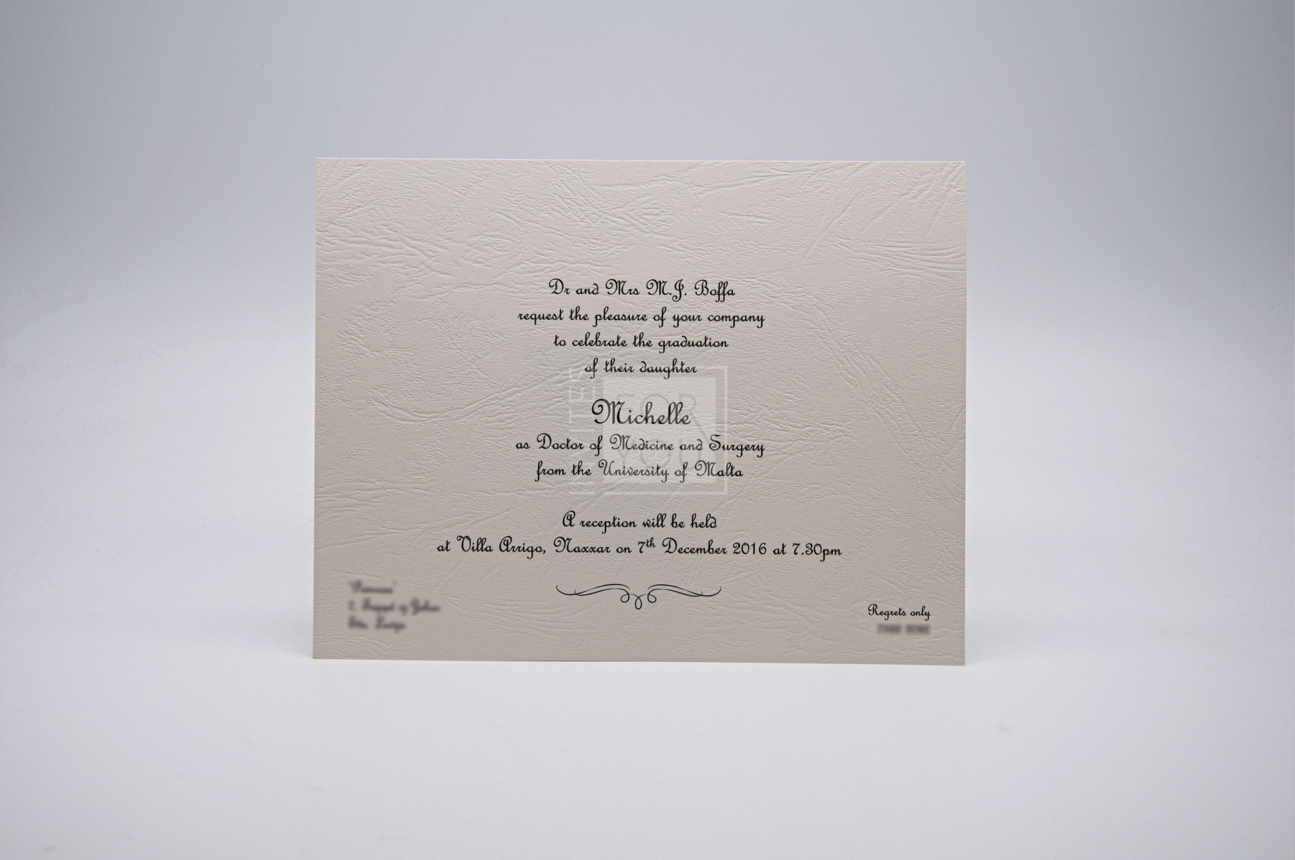 Graduation Invitations Malta