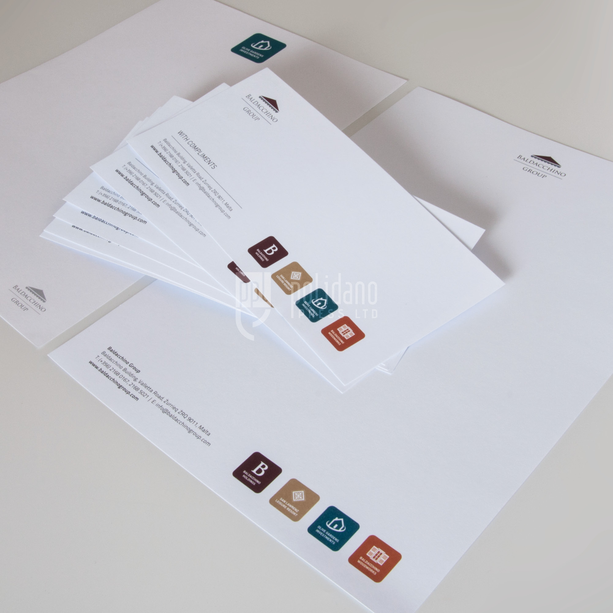 Baldacchino Group stationery