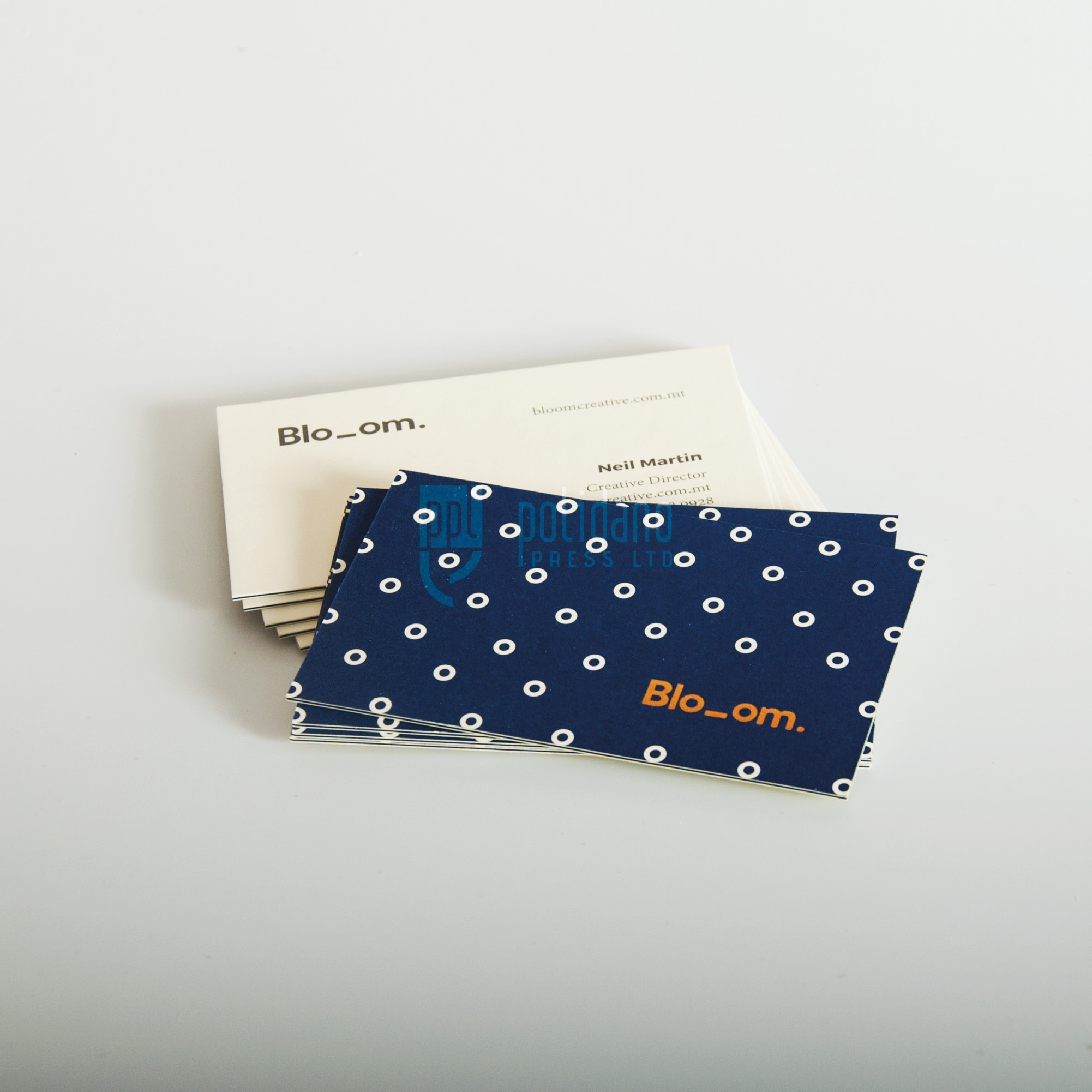 Bloom business cards - 3 ply - foil